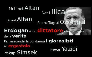 Erdogan ergastola giornalisti
